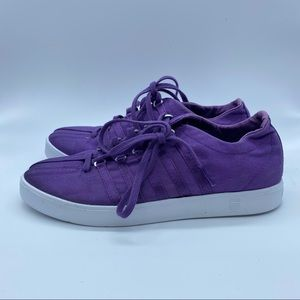 K-Swiss Purple Canvas Sneakers - size 8